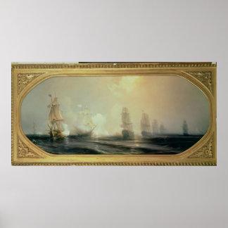 Naval Battle in Chesapeake Bay Poster