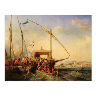 Naval Battle of Imbre in 1346, 1842 Postcard