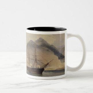 Naval Battle of the Strait of Shimonoseki Two-Tone Coffee Mug