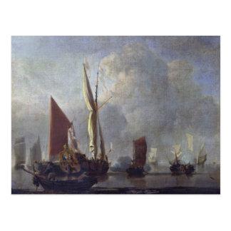 Naval Battle Postcard