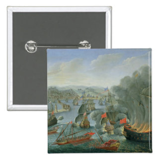 Naval Battle with the Spanish Fleet 2 Inch Square Button