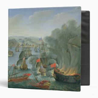 Naval Battle with the Spanish Fleet 3 Ring Binder