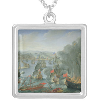 Naval Battle with the Spanish Fleet Silver Plated Necklace