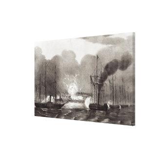 Naval Bombardment of Vera Cruz Canvas Print