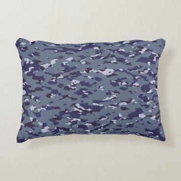 Naval Camouflage Accent Pillow
