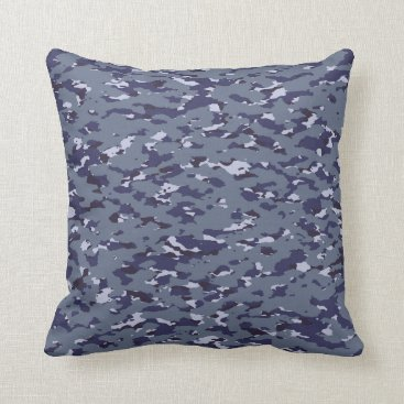 Naval Camouflage Throw Pillow