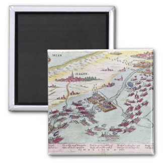 Naval Combat off the Coast of The Hague 2 Inch Square Magnet