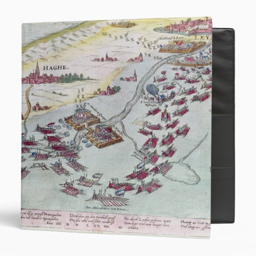 Naval Combat off the Coast of The Hague 3 Ring Binder