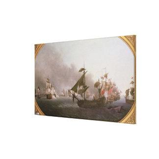 Naval Combat off the Isle of Grenada Canvas Print