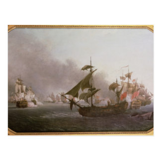 Naval Combat off the Isle of Grenada Postcard