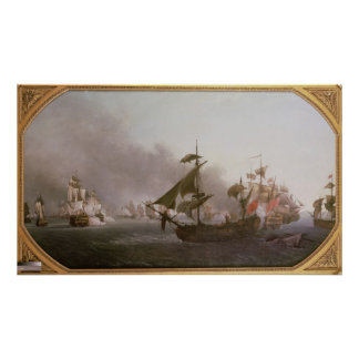 Naval Combat off the Isle of Grenada Poster