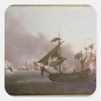 Naval Combat off the Isle of Grenada Square Sticker