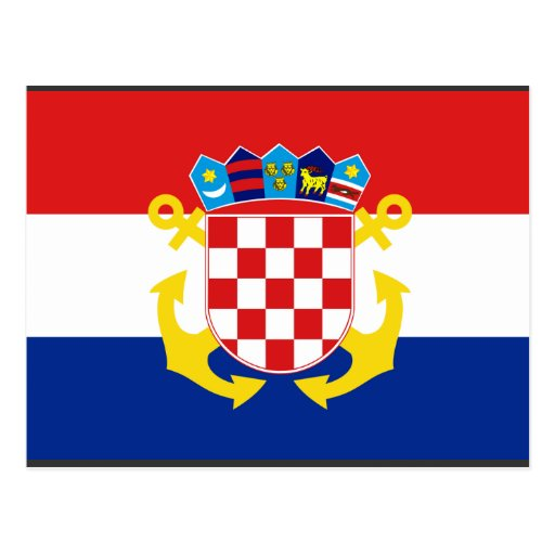Naval Ensign Croatia, Croatia Post Card