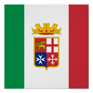 Naval Ensign Italy, Italy Poster