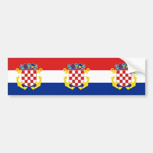 Naval Ensign Of Croatia, Croatia Car Bumper Sticker