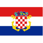 Naval Ensign Of Croatia, Croatia Photo Sculpture