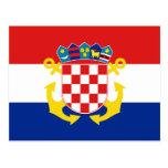 Naval Ensign Of Croatia, Croatia Postcard
