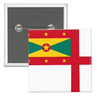 Naval Ensign Of Grenada, Greenland flag Pin