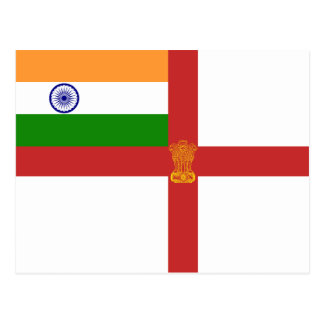 Naval Ensign Of India, India flag Postcard