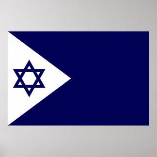 Naval Ensign Of Israel, Israel Poster