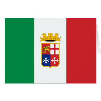 Naval Ensign Of Italy, Italy Greeting Card