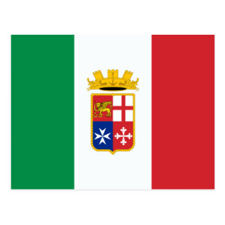 Naval Ensign Of Italy, Italy Postcard