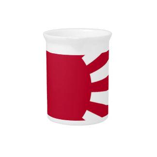 Naval Ensign of Japan - Japanese Rising Sun Flag Beverage Pitchers