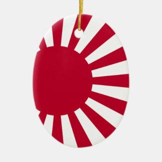 Naval Ensign of Japan - Japanese Rising Sun Flag Ceramic Ornament