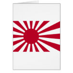 Naval Ensign of Japan - Japanese Rising Sun Flag Greeting Card