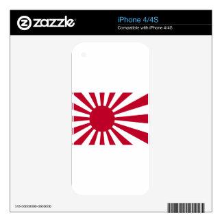 Naval Ensign of Japan - Japanese Rising Sun Flag iPhone 4S Skins