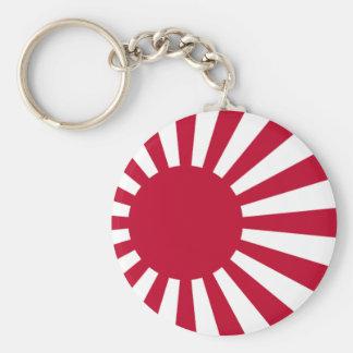 Naval Ensign of Japan - Japanese Rising Sun Flag Keychain