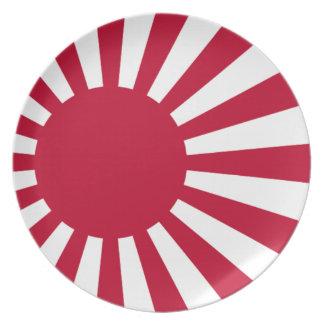 Naval Ensign of Japan - Japanese Rising Sun Flag Melamine Plate