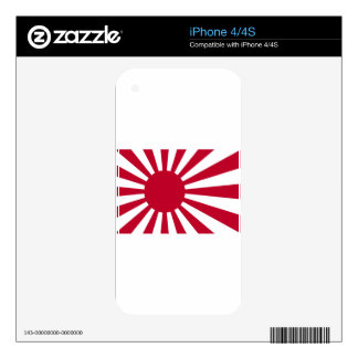 Naval Ensign of Japan - Japanese Rising Sun Flag Skin For The iPhone 4