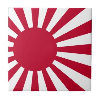 Naval Ensign of Japan - Japanese Rising Sun Flag Tile