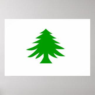 Naval Ensign Of Massachusetts, United States flag Poster