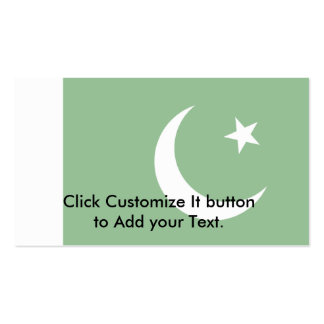 Naval Ensign Of Pakistan, Pakistan Double-Sided Standard Business Cards (Pack Of 100)