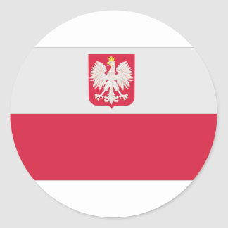 Naval Ensign Of Poland(Normative), Poland flag Sticker