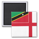 Naval Ensign Of Saint Kitts And Nevis, Russia Fridge Magnets