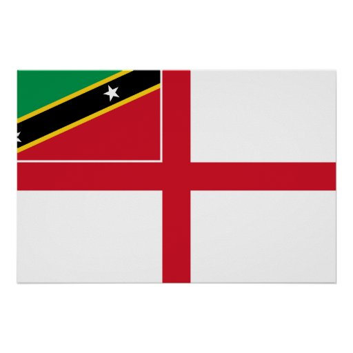 Naval Ensign Of Saint Kitts And Nevis, Russia Posters