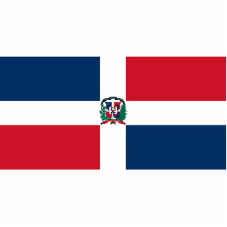 Naval Ensign Of The Dominican Republic, Dominica Standing Photo Sculpture