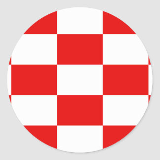 Naval Ensign Of The Independent State Of Croatia, Classic Round Sticker