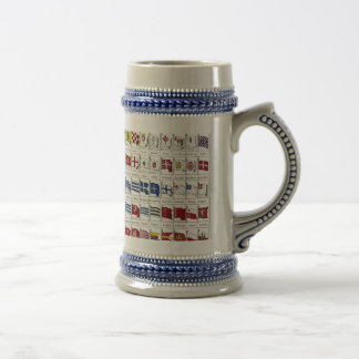 Naval Flags of the World 18 Oz Beer Stein