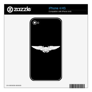 Naval Flight Officer Wings (NFO) - White iPhone 4 Decals