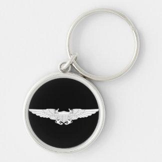 Naval Flight Officer Wings (NFO) - White Keychain