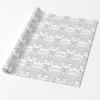 Naval Flight Officer Wings (NFO) - White Wrapping Paper