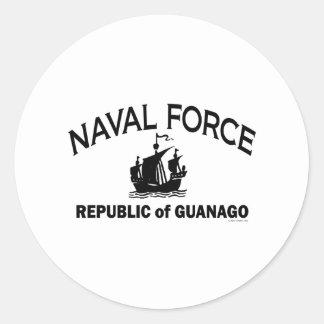 Naval Force 1 Round Sticker