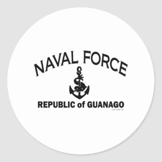 Naval Force 2 Round Stickers