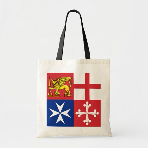 Naval Jack Italy, Italy Budget Tote Bag