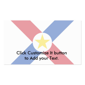 Naval Jack Of Paraguay, Papua New Guinea flag Business Card Template