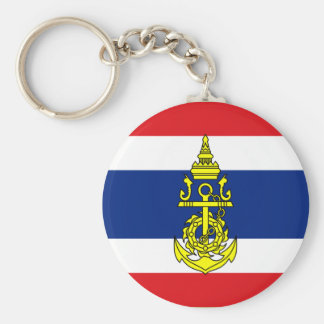Naval Jack Thailand, Thailand Basic Round Button Keychain